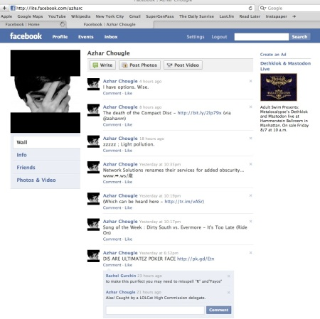 Somone did screengrab this shot of Facebook Lite