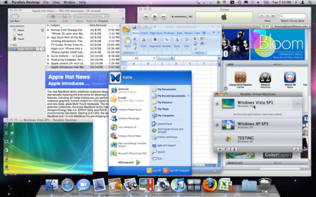 Parallels might look a little cluttered, but it's an elegant arrangement :)