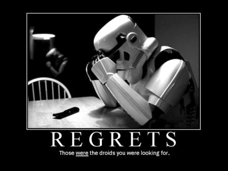 Regrets Storm Trooper
